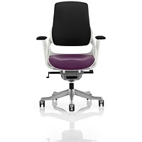 Zure Executive Chair, Black Back, Tansy Purple