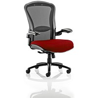 Houston Heavy Duty Task Operator Chair, Mesh Back, Ginseng Chilli