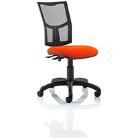 Eclipse 2 Lever Task Operator Chair, Mesh Back, Tabasco Red