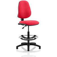 Eclipse 1 Lever Hi Rise Draughtsman Task Operator Chair - Bergamot Cherry