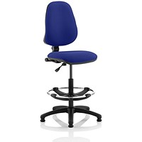 Eclipse 1 Lever Hi Rise Draughtsman Task Operator Chair - Stevia Blue