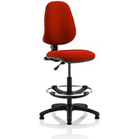 Eclipse 1 Lever Hi Rise Draughtsman Task Operator Chair - Tabasco Red