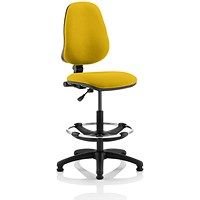 Eclipse 1 Lever Hi Rise Draughtsman Task Operator Chair - Senna Yellow