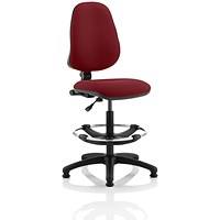 Eclipse 1 Lever Hi Rise Draughtsman Task Operator Chair - Ginseng Chilli
