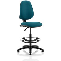 Eclipse 1 Lever Hi Rise Draughtsman Task Operator Chair - Maringa Teal