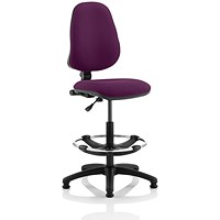 Eclipse 1 Lever Hi Rise Draughtsman Task Operator Chair - Tansy Purple