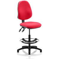 Eclipse 2 Lever Hi Rise Draughtsman Task Operator Chair - Bergamot Cherry
