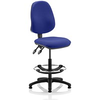 Eclipse 2 Lever Hi Rise Draughtsman Task Operator Chair - Stevia Blue