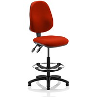 Eclipse 2 Lever Hi Rise Draughtsman Task Operator Chair - Tabasco Red