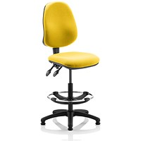 Eclipse 2 Lever Hi Rise Draughtsman Task Operator Chair - Senna Yellow
