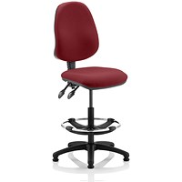 Eclipse 2 Lever Hi Rise Draughtsman Task Operator Chair - Ginseng Chilli