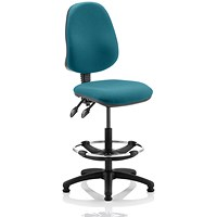 Eclipse 2 Lever Hi Rise Draughtsman Task Operator Chair - Maringa Teal