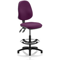 Eclipse 2 Lever Hi Rise Draughtsman Task Operator Chair - Tansy Purple
