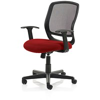 Mave Task Operator Chair, Black Mesh, Bergamot Cherry