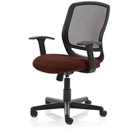 Mave Task Operator Chair, Black Mesh, Ginseng Chilli