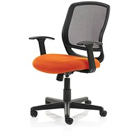 Mave Task Operator Chair, Black Mesh, Tabasco Red