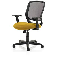 Mave Task Operator Chair, Black Mesh, Senna Yellow