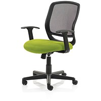 Mave Task Operator Chair, Black Mesh, Myrrh Green