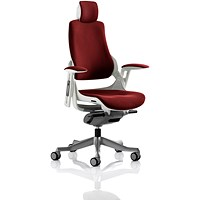 Zure Executive Chair, With Headrest, Ginseng Chilli