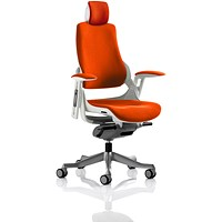 Zure Executive Chair, With Headrest, Tabasco Red