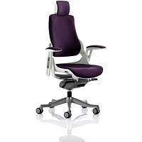 Zure Executive Chair, With Headrest, Tansy Purple