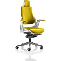 Zure Executive Chair, With Headrest, Senna Yellow