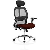 Sanderson 2 Operator Chair, Mesh Back, Ginseng Chilli