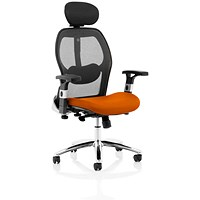 Sanderson 2 Operator Chair, Mesh Back, Tabasco Red