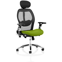 Sanderson 2 Operator Chair, Mesh Back, Myrrh Green