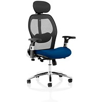 Sanderson 2 Operator Chair, Mesh Back, Stevia Blue