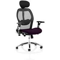 Sanderson 2 Operator Chair, Mesh Back, Tansy Purple