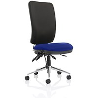Chiro High Back Operator Chair, Black Back, Stevia Blue
