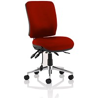 Chiro Medium Back Operator Chair - Ginseng Chilli