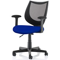 Camden Operator Chair, Black Mesh Back, Stevia Blue