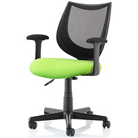 Camden Operator Chair, Black Mesh Back, Myrrh Green