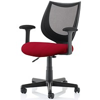 Camden Operator Chair, Black Mesh Back, Ginseng Chilli