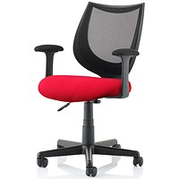 Camden Operator Chair, Black Mesh Back, Bergamot Cherry