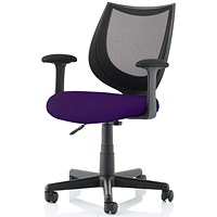 Camden Operator Chair, Black Mesh Back, Tansy Purple