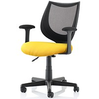 Camden Operator Chair, Black Mesh Back, Senna Yellow