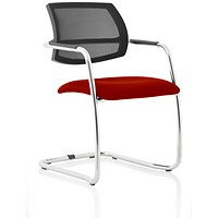 Swift Mesh Cantilever Visitor Chair - Ginseng Chilli
