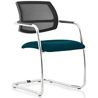 Swift Mesh Cantilever Visitor Chair - Maringa Teal