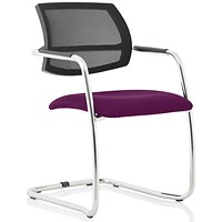 Swift Mesh Cantilever Visitor Chair - Tansy Purple