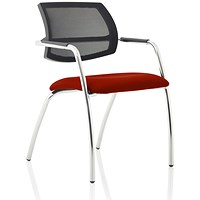 Swift Mesh Straight Leg Visitor Chair - Ginseng Chilli