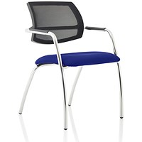 Swift Mesh Straight Leg Visitor Chair - Stevia Blue