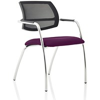 Swift Mesh Straight Leg Visitor Chair -Tansy Purple