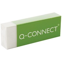 Q-Connect Plastic Eraser White (Pack of 20)