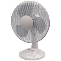 Q-Connect Desktop Oscillating Fan, 3 Speed, 16 Inch