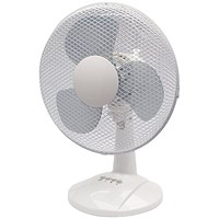 Q-Connect Desktop Oscillating Fan, 3 Speed, 12 Inch