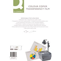 Q-Connect Laser Copier Film, Colour, A4, Pack of 50