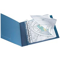 Q-Connect A4 Punched Pockets, A3 Folding to A4, Glossy, Pack of 10